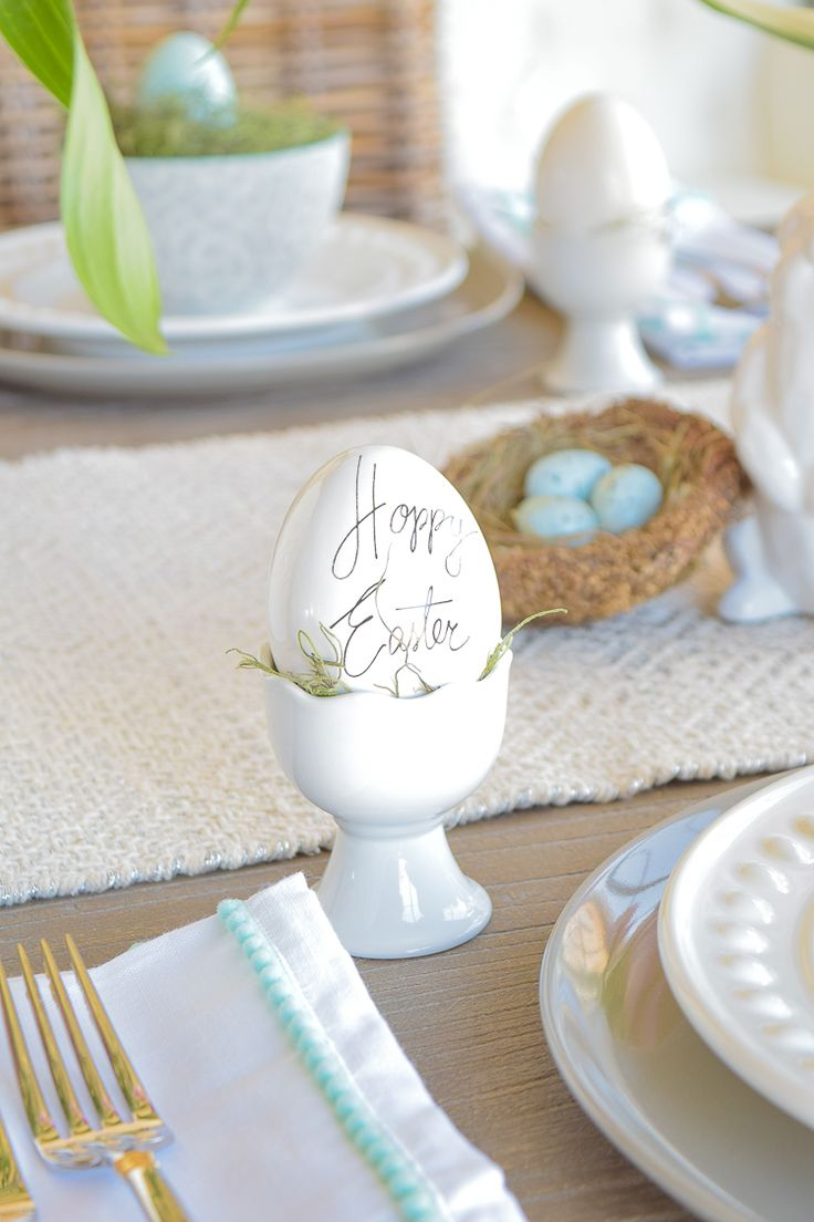 ZDesign At Home: Casual Elegant Easter Table Scape
