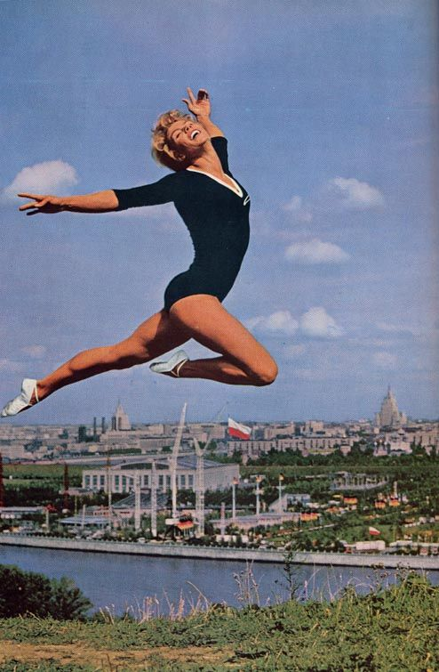 """Great #Olympians"" : Larisa Latynina (Famous Soviet Gymnast who won a total of 18 medals in the #Olympics including 9 gold medals, 5 silver medals and 4 bronze #medals.) Her Story - http://www.mapsofworld.com/olympics/great-olympians/gymnastics/larisa-latynina.html #Olympics #Legend #Gold"