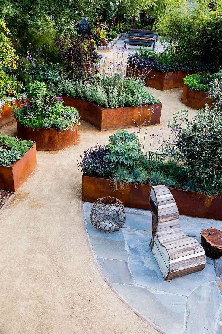 10 Design Ideen Fur Einen Kleinen Essbaren Garten Small Garden Design Garden Design Backyard Garden Diy