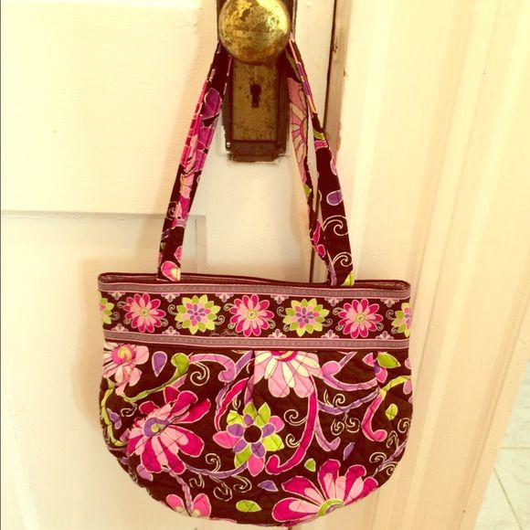 """Vera Bradley tote bag Vera Bradley tote bag similar in shape to the Glenna shoulder bag. """"Purple punch"""" print. Like new. Vera Bradley Bags Totes"""