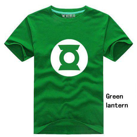Men Plus Size T Shirts, Superhero T-Shirts, Green Lantern
