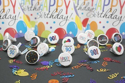90th Birthday Party Favor Sticker Decorations for by Distinctivs