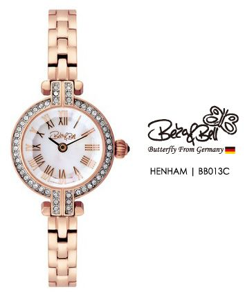 HENHAM BB013C  | Meterail:316L Stainless Steel  | Movement: MIYOTA 5Y20  | Case Size: 20.5mm  | Band Size:6mm  | Band: Stainless Steel  | Crown: Swarovski Crystal Crown  | Swarovski Crystal: 50 Pcs  | Dial: MOP  | Glass: Jewel Cutted Mineral Crystal  | Water Resistance : 3 ATM