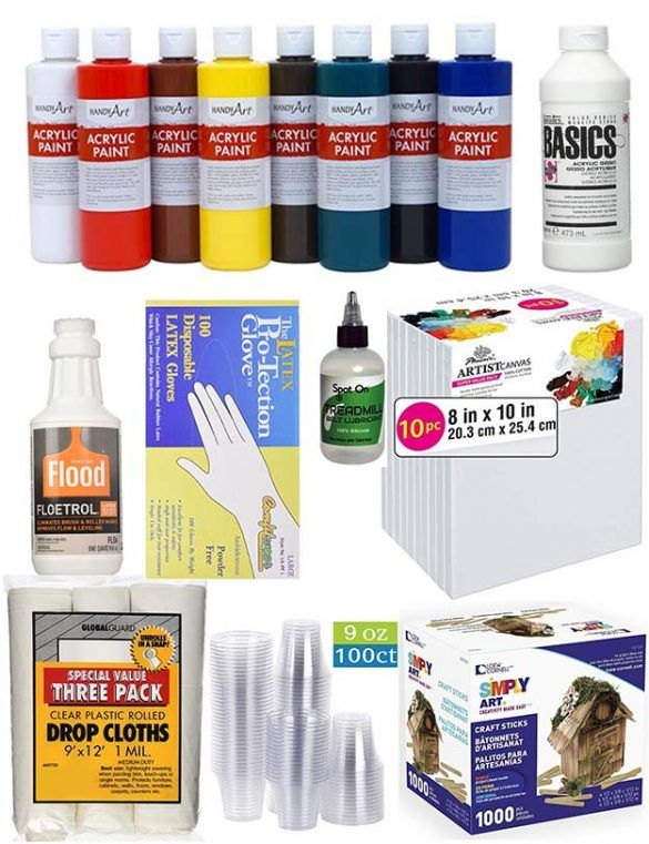 Acrylic Pour Painting Supplies For Stunning Diy Fluid Arts