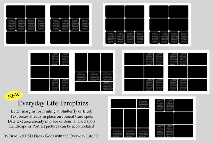 everyday life photobook templates photoshop printables pinterest template project life. Black Bedroom Furniture Sets. Home Design Ideas