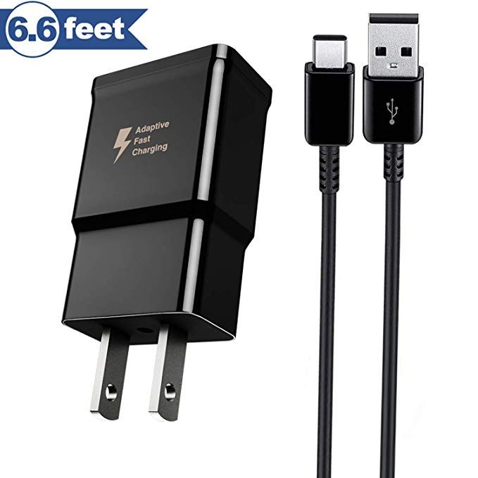 USB Type-C Adaptive Fast Charging Wall Charger Cable Compatible for Samsung Galaxy S8 S8 Plus S9 S9 Plus,LG G6 G5 V30 V20 Google Pixel 2 Nexus 5X 6p