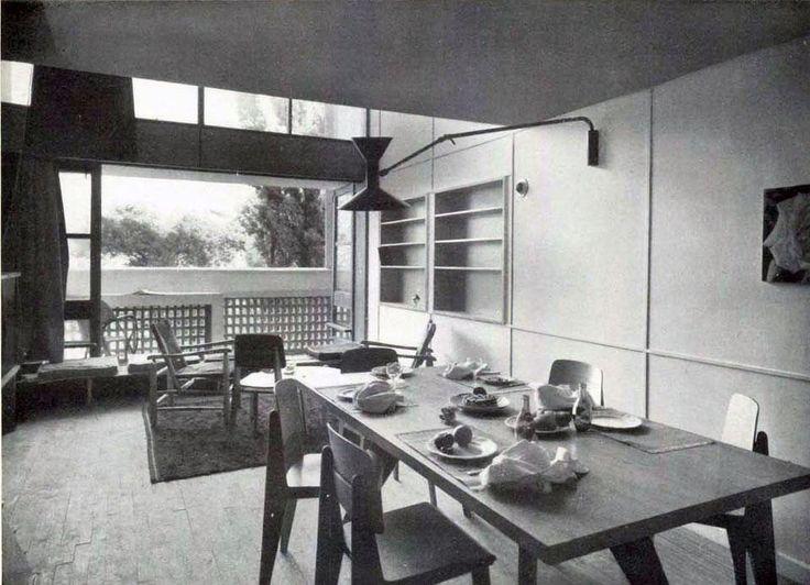 Pic. 12 Unidade de Habitación: Sala-comerdor dunha das unidades [Domus 242][Xaneiro de 1950]