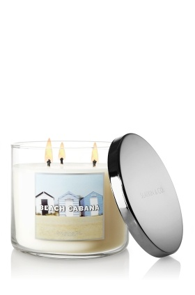 NEW Beach Cabana 3-Wick Candle – sweet jasmine, orange blossom and a hint of musk ♥   #LUVBBW: Bath Body Works, Orange Blossoms, Cabanas 3 Wicked, Sweet Jasmine, Work Beaches, Bath Work, Summer Scented, 3 Wicked Candles, Beaches Cabanas
