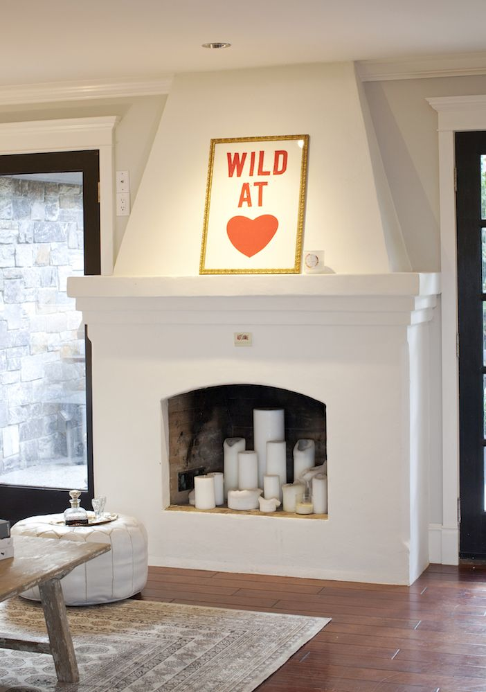 Fake fireplace and Candels
