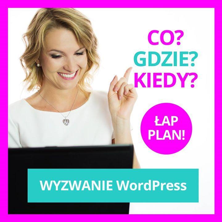 Już jutro zaczynamy wyzwanie WordPress! Nie mogę się doczekać a Ty? Zapowiadają się bardzo intensywne dni! W poniedziałek wtorek i czwartek spotkamy się wieczorem o 20:00 na transmisji live. W środę zobaczymy się na webinarze a w piątek będziesz miała trochę czasu na nadrobienie zaległości! Jeśli zapisałaś się do wyzwania to za 2h dostaniesz e-maila z linkiem do strony wyzwania gdzie znajdziesz wszystkie potrzebne materiały  w jednym miejscu. Nie ma Cię jeszcze w wyzwaniu? Nie zwlekaj…