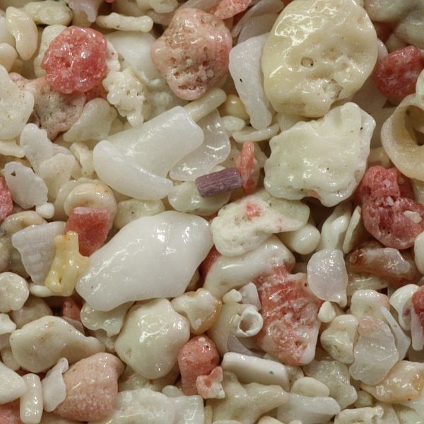 Biogenic sand from Horseshoe Bay, Bermuda — I love the pink coral mixed in! #arenophile