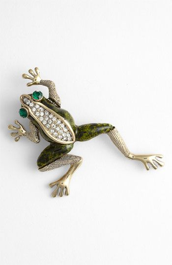 Tasha 'Critters' Frog Brooch available at #Nordstrom