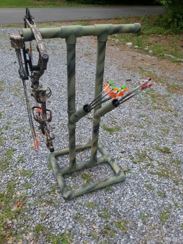 Best 25 bow rack ideas on pinterest archery hunting for Pvc pipe bow plans