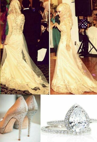 collage voor verloving van dames met een hoofddoek