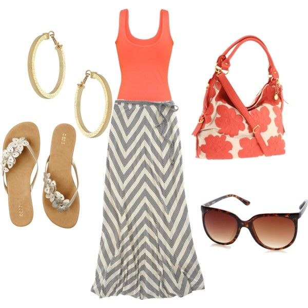 """like the coral and gray """"bliss"""" by aceofstyle on Polyvore"""
