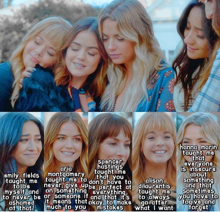 Alison should be that people can change for the better.  ❤️❤️