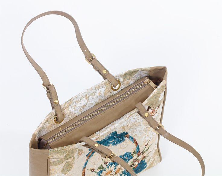 Bayan Çanta| Omuz Çantası, | APOLENA, | Apolena Mavi Çiçekler Sepeti Bayan Çanta, | çanta, asi kız karla, bayan çanta, bayan aksesuar