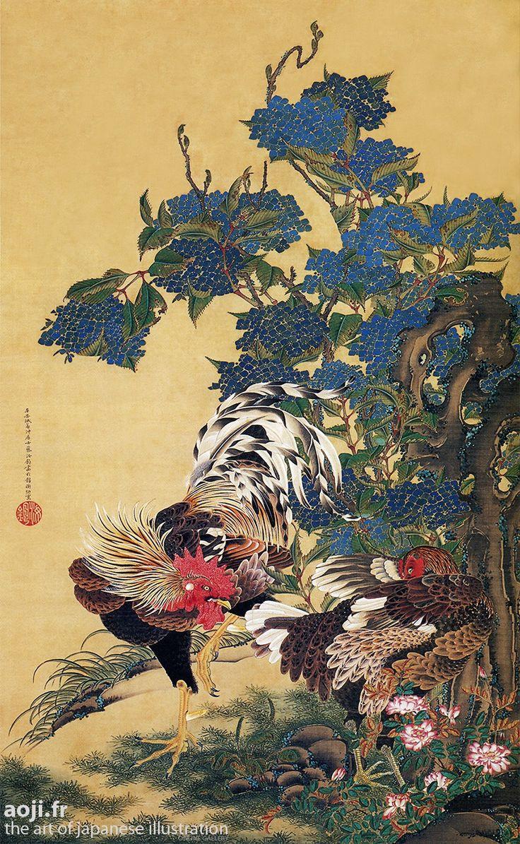 Ajisai soukeizu, by Itô Jakuchû