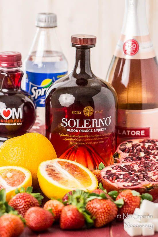 Blood Orange, Pomegranate & Strawberry Champagne Sangria-7
