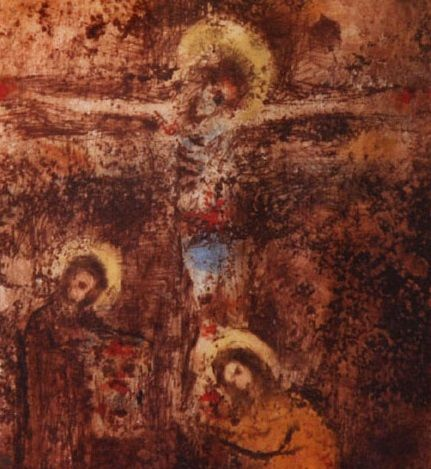 Bohuslav Reynek - Crucifixion III (end of 1950's) #graphics #painting #art #Czechia #CzechArt