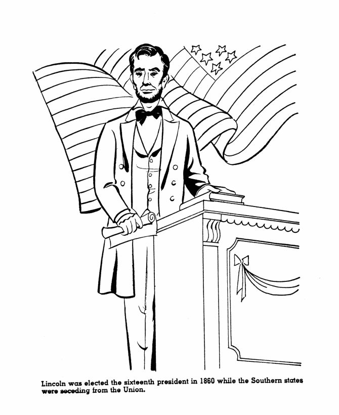 abraham lincoln log cabin coloring pages - photo #31