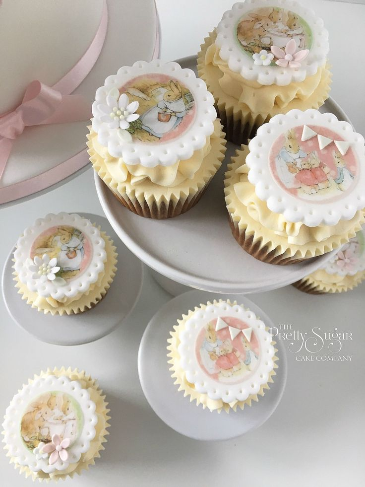 Beatrix Potter Flopsy Bunny cupcakes
