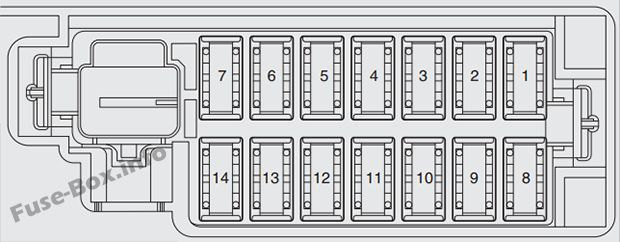 instrument panel fuse box diagram: fiat punto (2013-2018...) | fuse box,  tire pressure monitoring system, fiat  pinterest