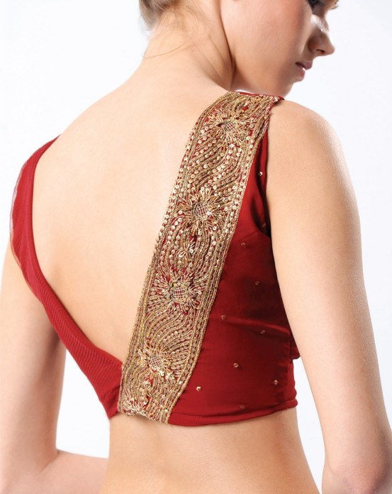 The simple choli has become a high fashion statement #Saree Blouse Designs #Shaadi #shaadimagazine