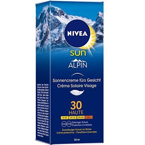 Nivea Sun Alpin Crème Solaire Visage FPS30 50 ml – Lot de 2: Protège efficacement contre la réverbération intense des UV sur la neige et…