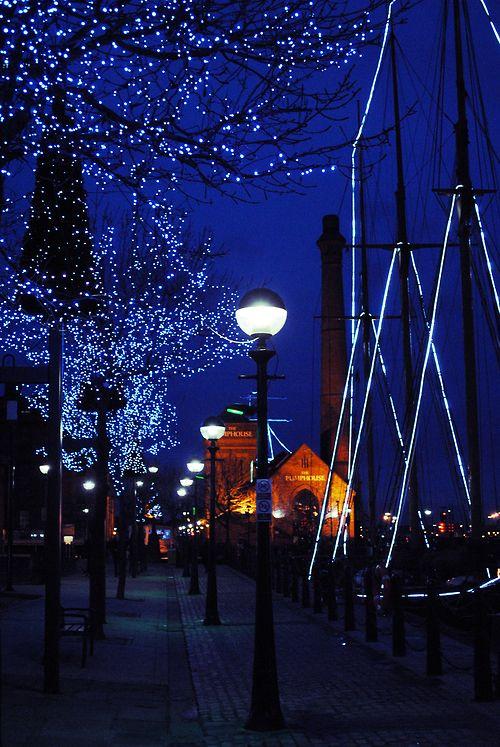Night Lights, Liverpool, England.