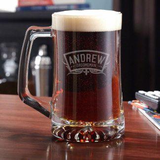 Wedding Party Personalized Beer Mug