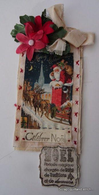 Scrap,quilt and stitch: Etiquettes de l'avent (6)