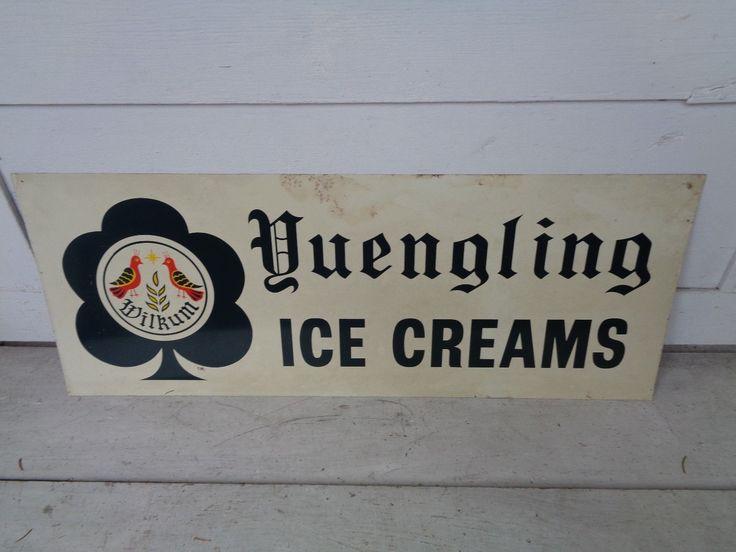 VINTAGE YUENGLING ICE CREAM TIN METAL SIGN POTTSVILLE PA BEER DAIRY MILK BOTTLE   eBay
