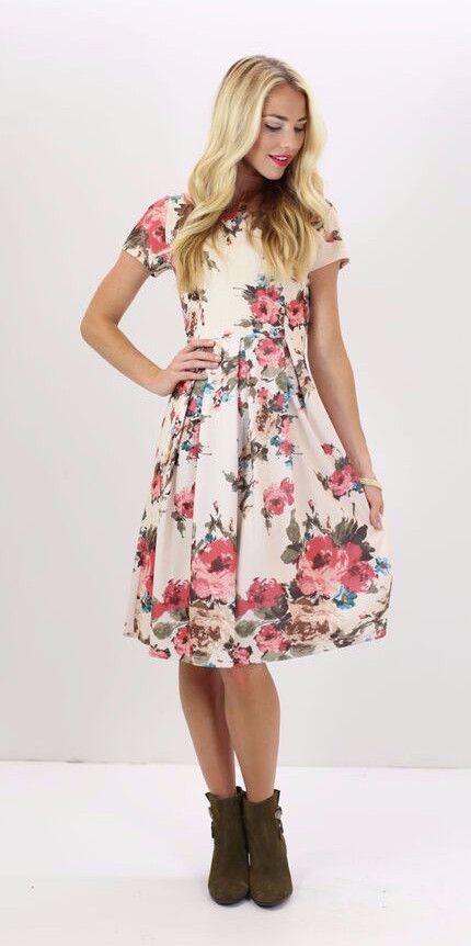 Eve Dress - Pink Floral (Pre-order) – ModestPop.com