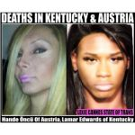 LEXIE CANNES STATE OF TRANS — (Two updates — see below.) A gunshot victim who died in Louisville, Kentucky on January 9th is a trans woman according to Transgriot.  The victim, Lamar Papi Edwards, whose preferred first name is unknown, was declared DOA at a hospital after being found by police in a hotel parking lot. Edwards was originally from Indianapolis, Indiana. Police arrested Henry Richard Gleaves two days after the shooting and charged him with her murder.In Vienna, Austria, an…