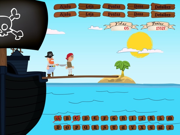 Pirate Hangman Game by Gregory Ramos, via Behance