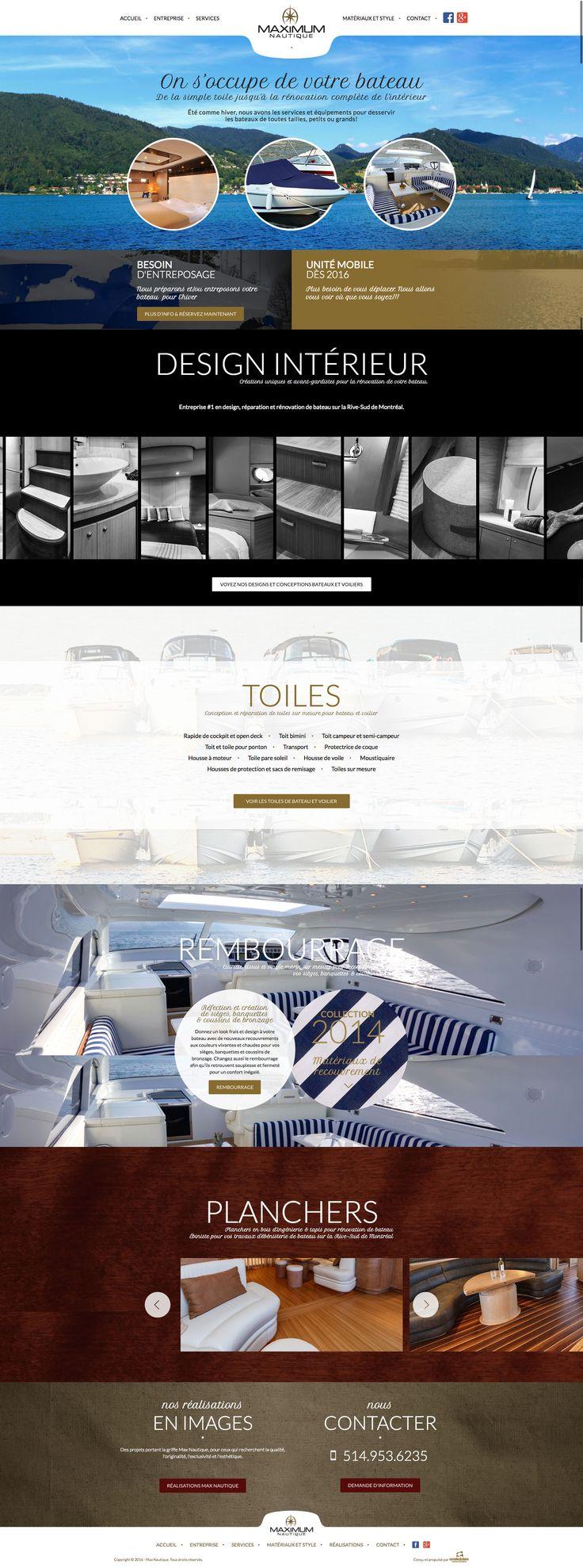Nos Réalisations: Nouveau site web de Max Nautique, entreposage et entretien de bateau #webdesign #bâteau #entreposage