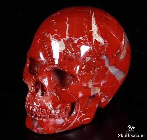 Red Jasper Crystal Skull