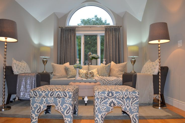 Interior designer in Windsor creates a formal living room for a young couple.