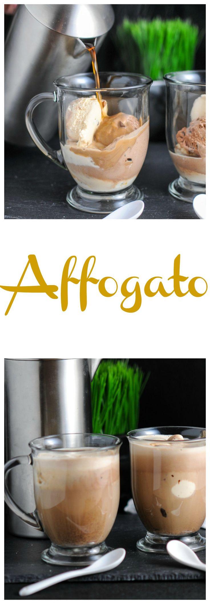 Affogato - Gelato and Espresso drink recipe, coffee, dessert, starbucks, cafe, vanilla, chocolate