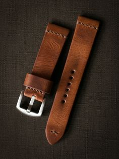 Get ready to dress your watch in the finest handcrafted saddle tan watch strap