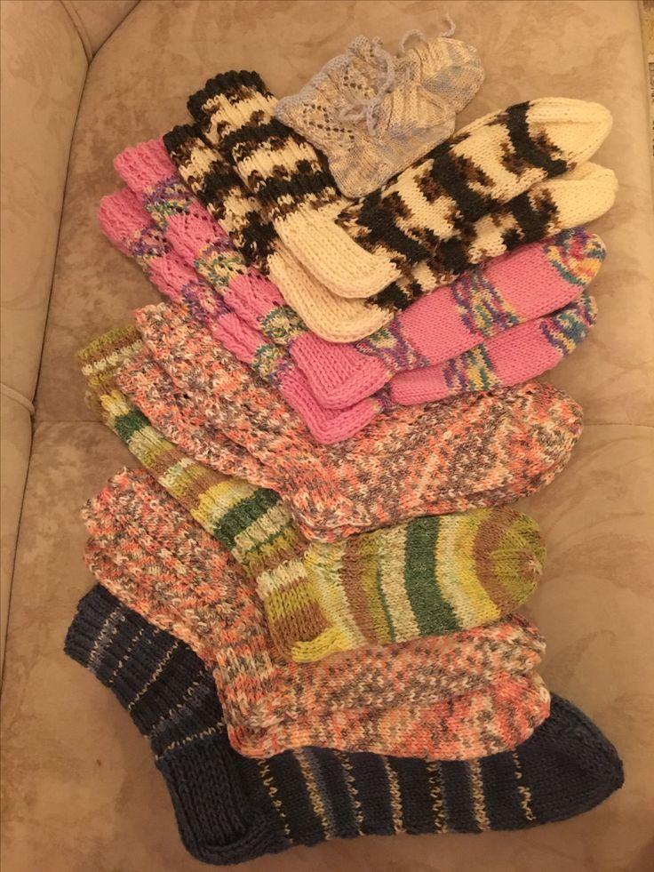 Selfmade knitted socks