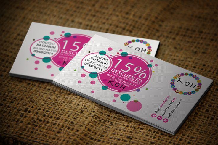 Tarjetas de presentación Cliente: Koh Venta online - Joyeria