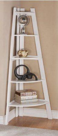 Amazon.com - White Finish 5 Tier Corner Display Unit Shelf / Rack F04040
