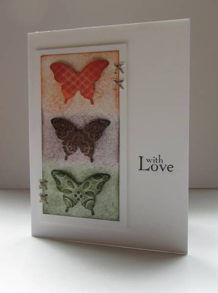 Colors: Cards Ideas, Cards Butterflies, Butterflies Punch, Butterflies Cards, Butterflies Colors, Backgrounds Colors, Cards Crafts, Queen Stampin Nana, Photo