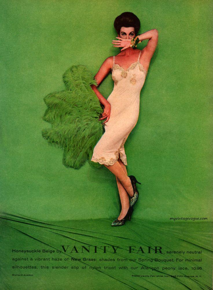 Vanity Fair 1959 - photo by Richard Avedon: Vintage Lingerie, Carmen Dell Oref, Richard Avedon, Vanities Fair, Vanity Fair, Carmen Goldsmith, Vintage Fashion, Photo, Fair 1959