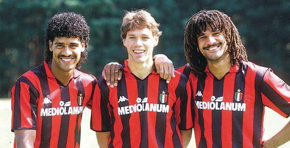 Frank Rijkaard, Marco van Basten y Ruud Gullit  El AC Milán de los holandeses