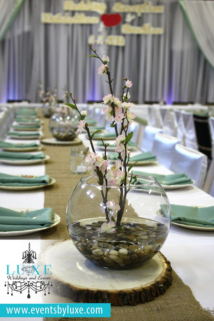 Pink sage and bulap wedding decor pink