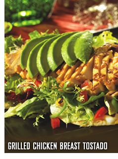 Grilled Chicken Tostada Salad with citrus vinaigrette...Bahama Breeze