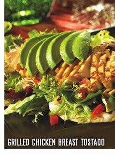 Grilled Chicken Tostada Salad with citrus vinaigrette...Bahama Breeze